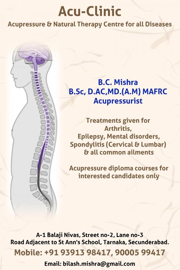 Acu-Clinic - Mr B C  Mishra | Acupressure Treatment in