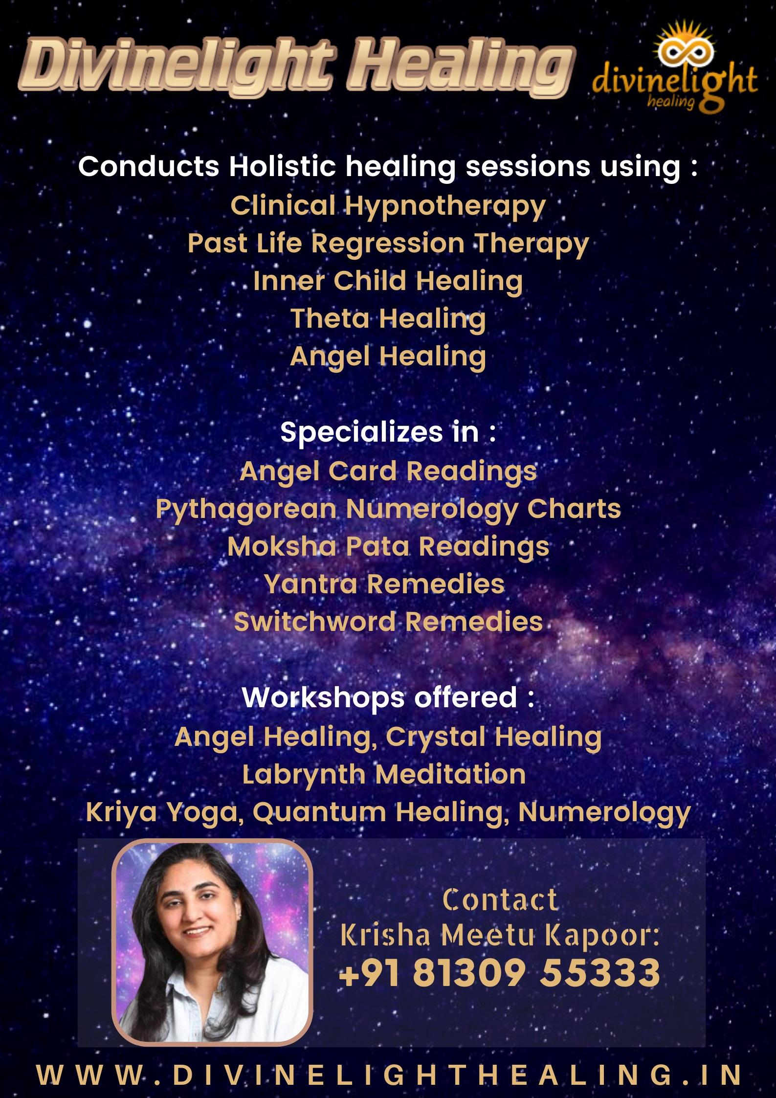 Divine Light Healing - Ms  Krisha Meetu Kapoor